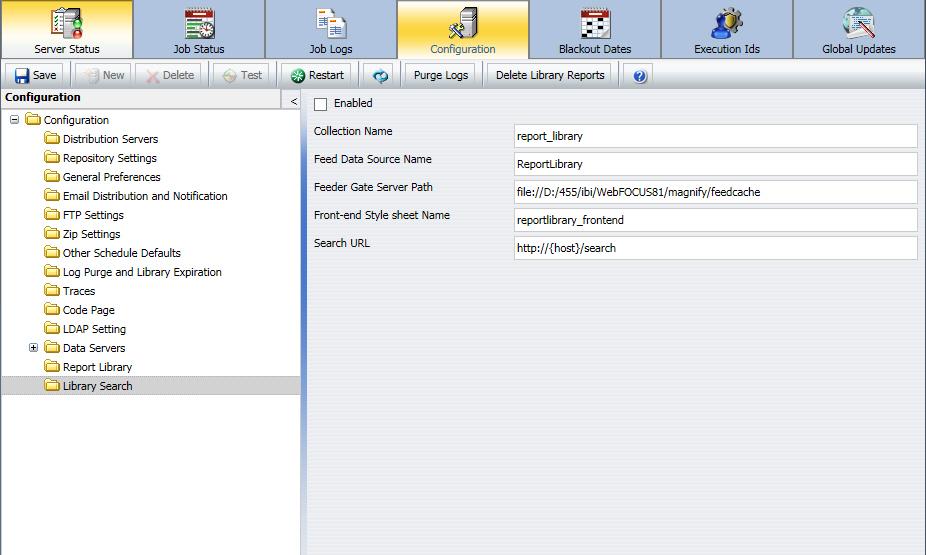 ReportCaster Configuration
